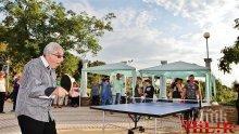 Хайго игра тенис с инвалиди, раздаде им купи и медали (СНИМКИ)