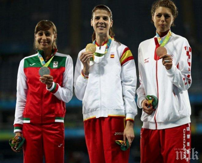Невероятен успех за България! Сребърен медал от скока на височина за Мирела Демирева