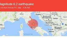 Земетресение с магнитуд 6,2 разтресе Италия! Усетено е в Рим