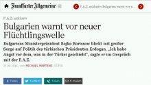 """Бойко Борисов пред """"Франкфуртер Алгемайне Цайтунг"""": Турция трябва да знае, че не сме оставени сами"""
