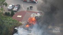 """Пожар избухна в пицария в столичния квартал """"Дружба"""" (СНИМКИ)"""