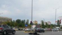 Кола помете мотор в София