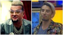 ФОТО ФАКТ! Евгени Минчев захапа Алек Сандър: Косата му е като жълтък! Е, и лордът беше перхидролко!