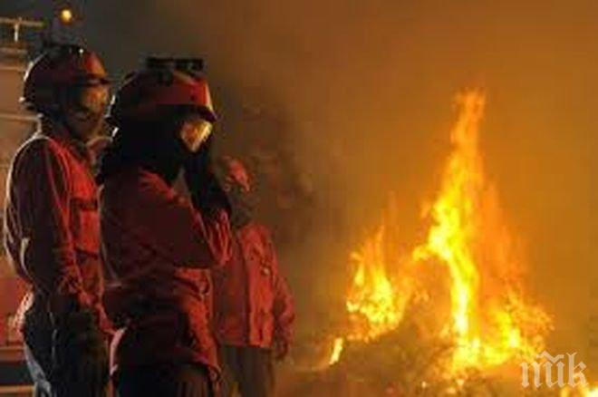 "Пожар гори на АМ ""Тракия"""
