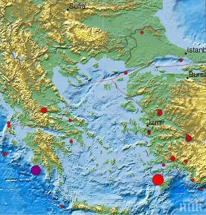 Нов трус в Южна Гърция - този път с магнитуд 4.9