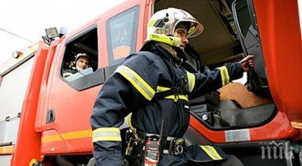 екшън пловдив горящ апартамент вдигна тревога пожарната