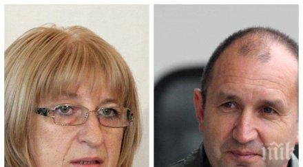 Защо Румен Радев води пред Цецка Цачева в анкетата на ПИК. Нуждаем се от генерал, а не от жена главнокомандващ