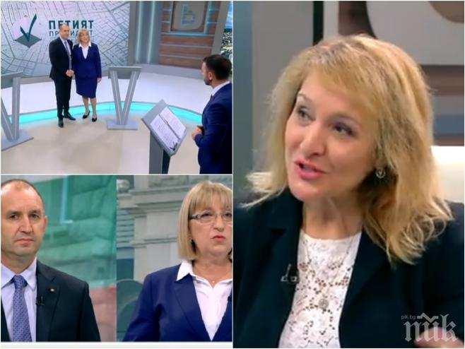 ПОД ЛУПА! Психолог за дебата: Показалецът издаде егото на генерала, а Цачева не подаде ръка - демонстрира дясното