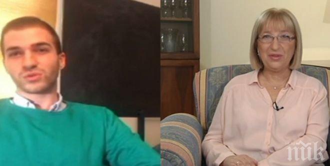 СПОДЕЛЕНО! Синът на Цецка Цачева я развълнува в ефир, тя пък се надява скоро да стане баба