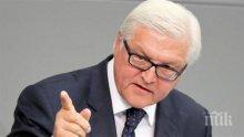 Франк-Валтер Щайнмайер е призовал към подновяване на примирието в Сирия