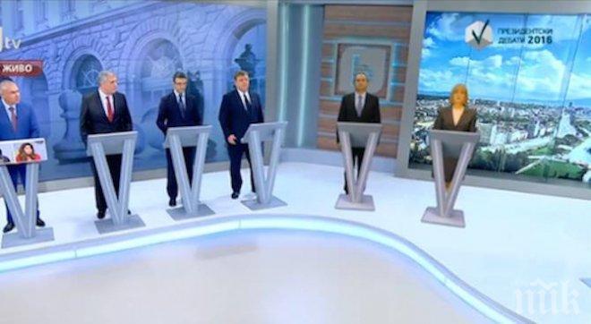 ШОУ! Замениха Цачева и Радев с виртуални фигури в големия дебат! Конкурентите им си разкриха сметките