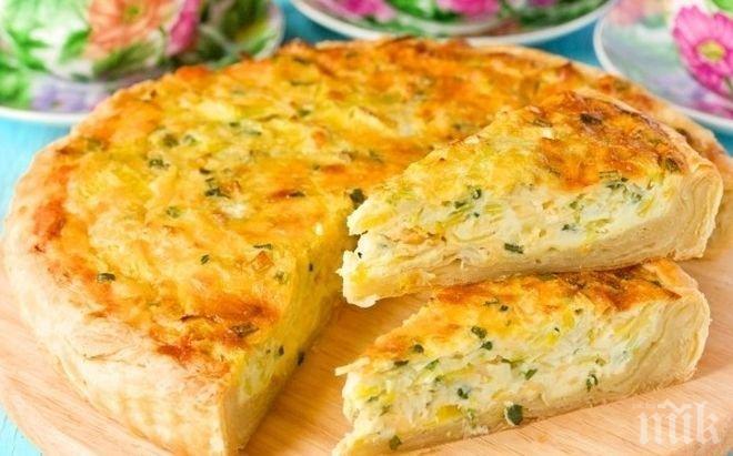 Баница със сирене и праз