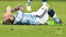Паника в самолета на Аржентина! Меси припадна, лекари го свестяват