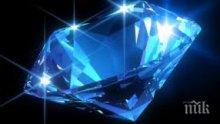 Рядък небесносин диамант бе продаден на аукцион в Женева за 17.1 млн. долара