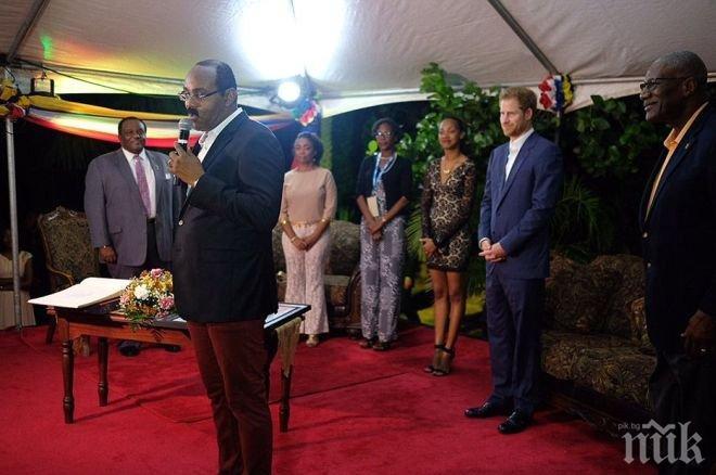 Карибски премиер ожени принц Хари и актрисата Меган Маркъл