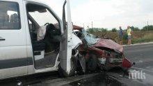 Непълнолетен подкара бус и катастрофира в Русе