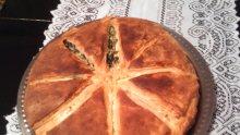 Маслена питка със спанак и сирене (стъпка по стъпка)