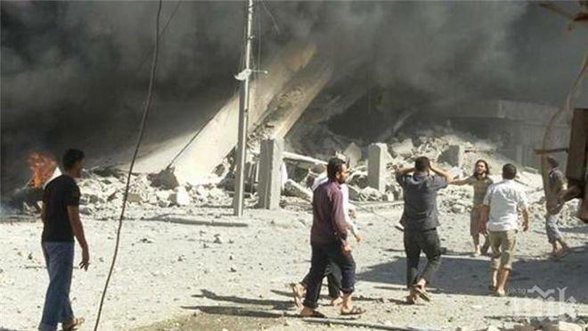 Русия обстрелва Идлиб от въздуха, гинат цивилни