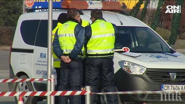 Полицейска акция на пътя София-Калотина! Проверяват масово тировете
