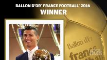 """Роналдо спечели """"Златната топка"""""""