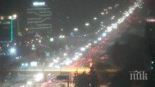 """Страшно задръстване на """"Цариградско шосе"""" заради снега (СНИМКА)"""