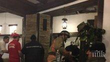 Пламна покривът на заведение в Пловдив, клиентите продължили да си пият кротко