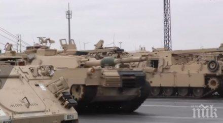 Американските танкове пристигнаха в Полша (ВИДЕО)