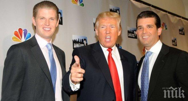 СПОРЕД ЗАКОНА! Тръмп е прехвърлил своята бизнес империя на синовете си