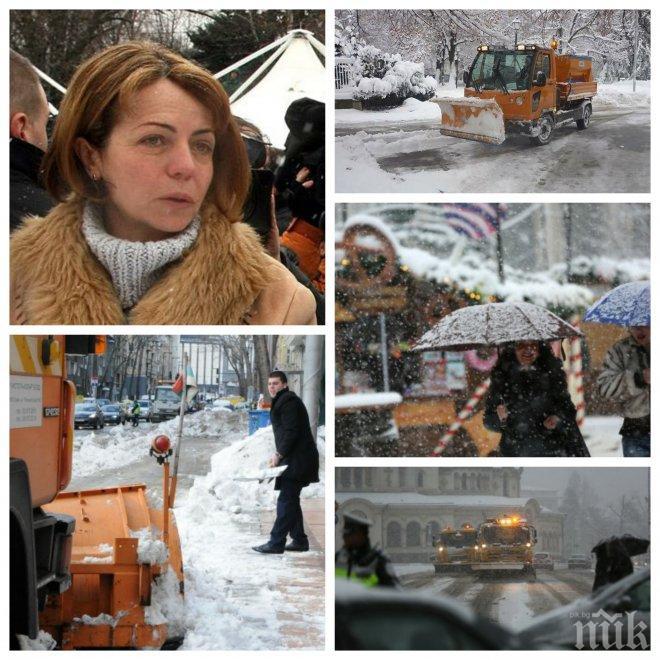 ИЗВЪНРЕДНО В ПИК TV! Фандъкова с горещи новини за ситуацията със снега в София