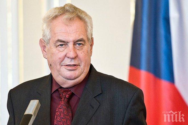 Милош Земан: Източна Европа е застрашавана от същите терористични актове като в Западна Европа