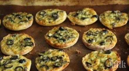 Пърленки с маслини и сирене