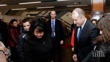 Български военни посрещнаха Радев във върховното командване на силите на НАТО в Европа (СНИМКИ)
