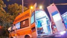 Линейка с пациент се заби в светофар след отнето предимство