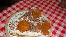 Кайсиева торта с ванилов крем