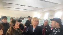 """Мая Манолова в Хитрино: Фирмата-превозвач не е имала застраховка """"Гражданска отговорност"""""""