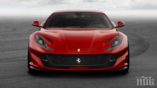 """Идва звярът: """"Ферари 812 Superfast"""" има 800 к.с. и вдига 100 км./час за 2.9 секунди"""