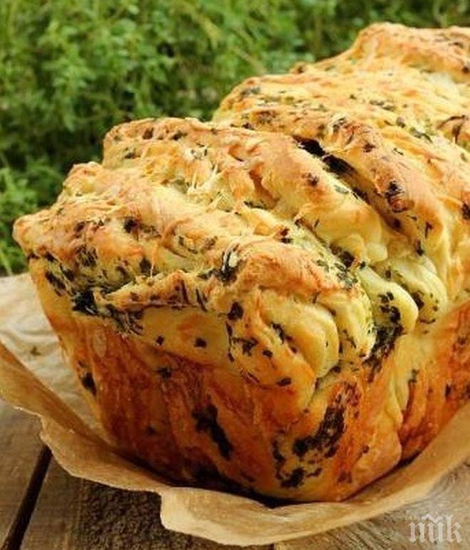 Питка със сирене и подправки