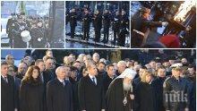 ПЪРВО В ПИК! Започна възпоменателната церемония пред паметника на Васил Левски (ВИДЕО/СНИМКИ)