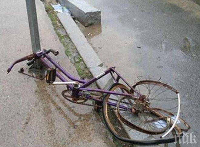 Велосипедист бере душа, пометен от ТИР в Казанлък
