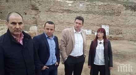 Цветан Цветанов посети античен град край Петрич (СНИМКИ)