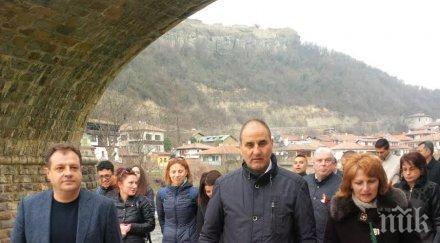 Цветан Цветанов и кандидати за депутати от Велико Търново почетоха 787-ата годишнина от победата при Клокотница