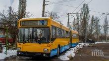 Временно променят движението на тролеи №2 и №4 в София