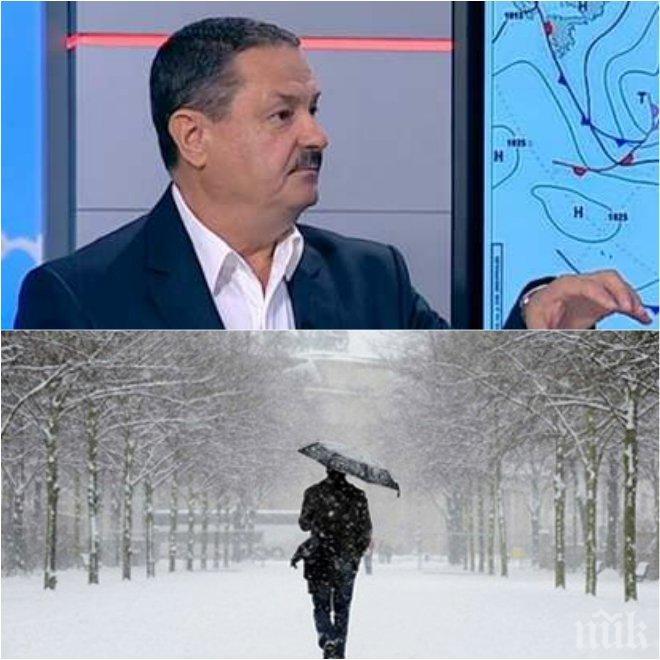 ЕКСКЛУЗИВНО! Топклиматологът Георги Рачев с последна прогноза: Зимата се върна, днес е най-студеният ден през март