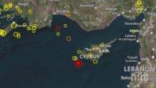 Силен трус! 4,5 по Рихтер удари Кипър