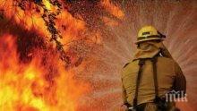 Пожар избухна на гробища край Благоевград