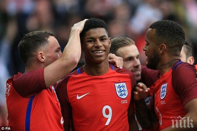 Младок от Юнайтед ще води атаката на Англия срещу Германия