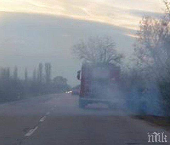 Пожар пламна и край Пазарджик