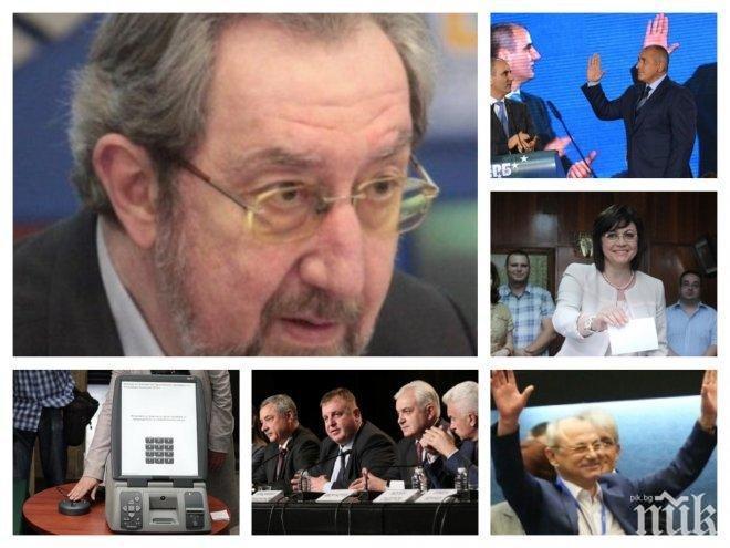 ИЗВЪНРЕДНО В ПИК TV! Горещи данни дни преди вота: ГЕРБ води с 0,7% на БСП! Герджиков мина по рейтинг Борисов (ОБНОВЕНА)