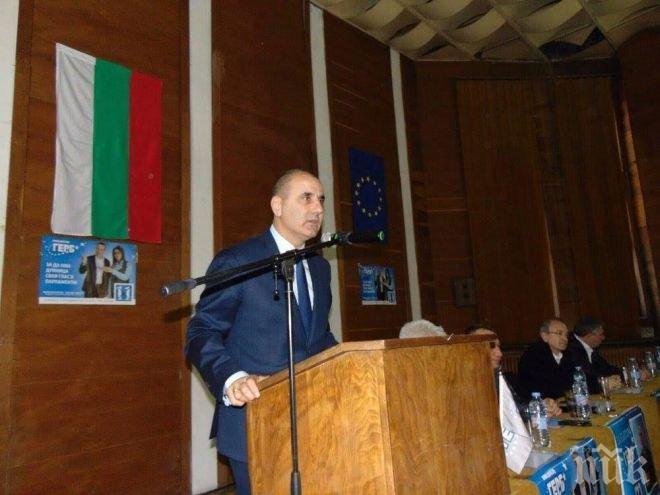 Цветанов в Рибново: Няма да правим коалиции с ДОСТ, ДПС и БСП