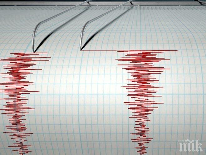 ИЗВЪНРЕДНО! Земетресение на 24 километра от София